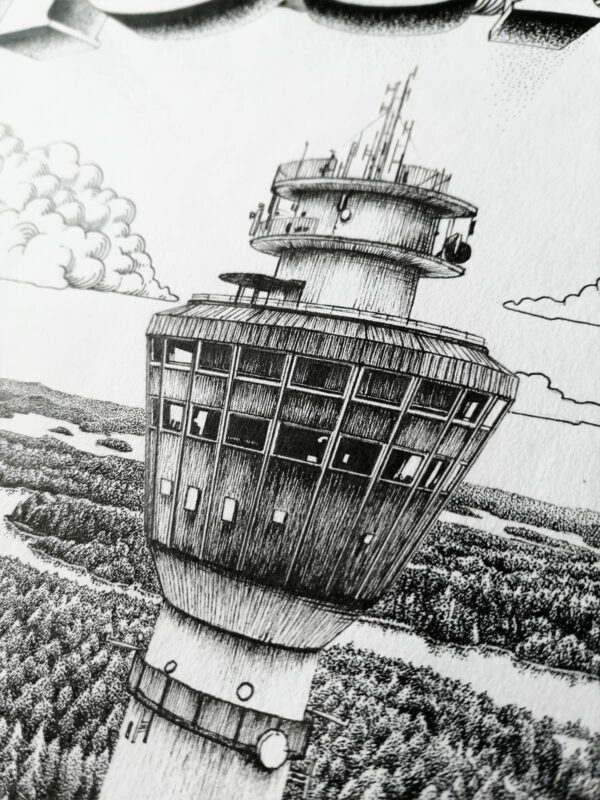 Kuopio, yksityiskohta Puijon tornista