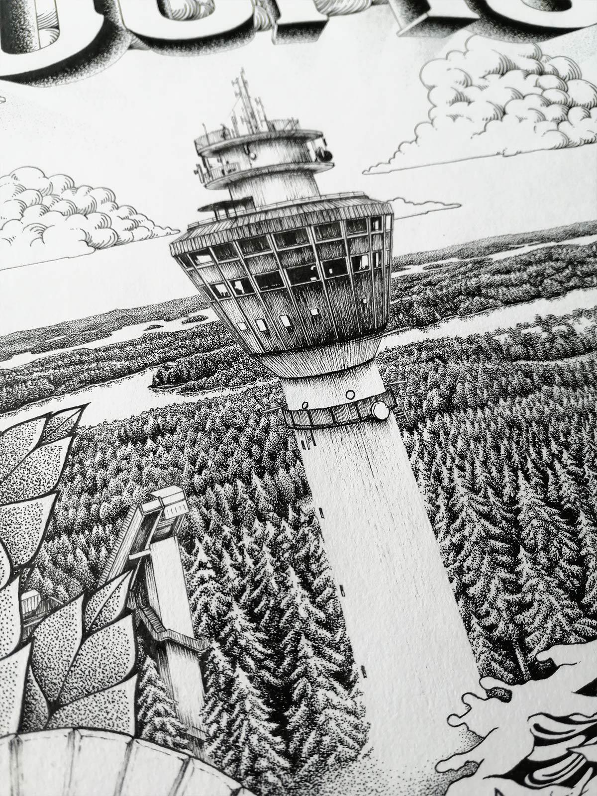 Kuopio, yksityiskohta Puijolta